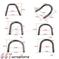"Motorcycle 7/8"" Rear Seat Loop Frame Hoop Tracker End For Cafe Racer Upswept"