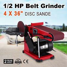 375W Ponceuse à Bande et à Disque 150mm Poncage Machine d'Atelier 1/2 HP