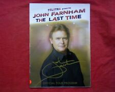 "John Farnham, "" The Last Time ""  Tour Concert programme program book booklet"