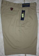 NWT New Men's Polo Ralph Lauren Golf Shorts Fairway Fit Pleated Tan Size 32