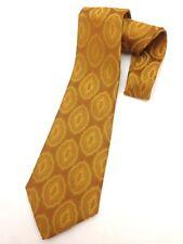 True Vintage Mens Necktie Kipper Wide Neck Tie Boho Kitsch Copper Green Orange