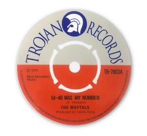 The Maytals - Record Label Vinyl Sticker 54 46 Was My Number Ska Trojan  CD19