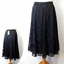 dd51d2c27c0 New M S CLASSIC Dressy SILKY Long FLARED SKIRT ~ Size 10 (30