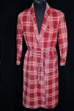 Rare Authentique Vintage 1940'S Lourd Coton Rouge à Carreaux BEACON Robe Size M