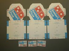 3 Easy Fold Dominos Pizza Boxes for 1/6 Scale Action Figures (unfolded)