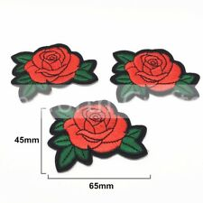 Rose Flower (Sew on) Embroidery Applique Fabric Patch Sew Iron Badge