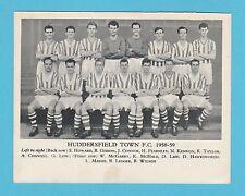 FOOTBALL - ANONYMOUS FOOTBALL TEAM CARD  -  HUDDERSFIELD  TOWN  F.C.  -  1958-59