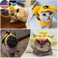 Cat Pet Dog Cute Animal Cap Hat Head Wear For Puppy Headband Fancy Costume New