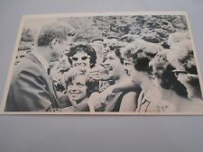 Postcard-style card -- President Kennedy greeting college students in 1962