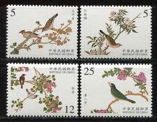 CHINA TAIWAN 2001 Vögel Gemälde Palastmuseum III Birds Paintings 2696-2699 MNH