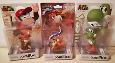 AMIIBO - MARIO KART SWITCH - WIIU - NEW 3DS - YOSHI + DIDDY KONG + DUCK HUNT NEW