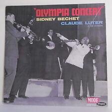 "33T Sidney BECHET & Claude LUTER Disque LP 12"" OLYMPIA CONCERT Jazz MODE 9136"