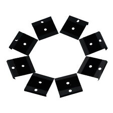 100PCs Display Card Fit Snap Button Black Lint Plastic 4.2x4cm