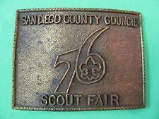 Vintage San Diego County Council 76 Scout Fair Brass/Bronze Belt Buckle