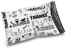 Shop4Ers 10 X 13 Glossy Thank You Poly Bag Er Envelopes 2 Mil (100 Pack, Multi-L