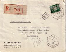 BOUCHES DU RHONE - MARSEILLE ST FERREOL B - RECETTE AUXILIAIRE - LETTRE RECOMMAN