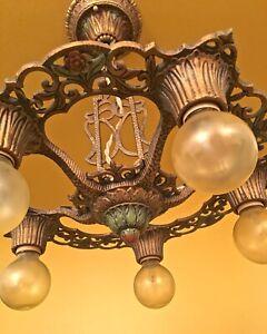 Vintage Lighting 1930 Virden Winthrop chandelier! Rewired!