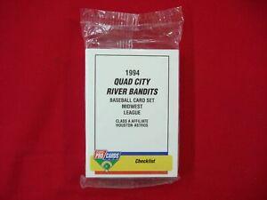 1994 QUAD CITY RIVER BANDITS FLEER PROCARDS MiLB TEAM SET WAGNER CEDANO ASTROS