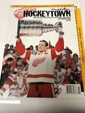 1997 Detroit RED WINGS Home opener Program....they raise the Banner Night!!!!