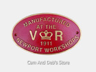 Cast Iron V R Newport Workshop Railway Sign