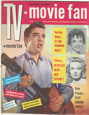 TV + Movie Fan  Magazine Dec. 1956 Vol.1 No. 1 Elvis Gossip, Photos