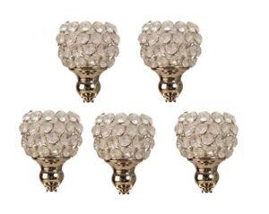 5 Stück Glasaufsatz silber für Kerzenständer Aufsatz Kerzenleuchter Kandelaber