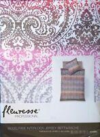 Fleuresse Interlock-Jersey Bettwäsche Set Topas 2 teilig 135x200cm bügelfrei Fb4