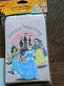 2009 Disney Princesses Theme Party Favor Or Halloween Candy Bags 40 Count