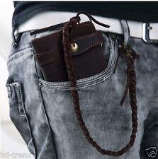 Vintage Men Crazy horse Leather wallet Bifold Purse Long Clutch Bag Money Clips