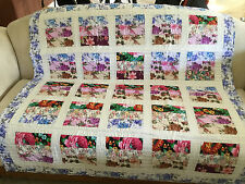 machine quilted lap quilt J-66