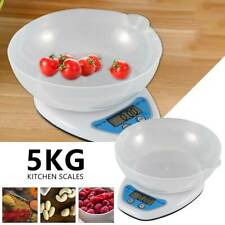 5KG DIGITAL KITCHEN SCALES LCD ELECTRONIC COOKING FOOD MEASURING BOWL SCALE