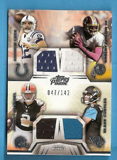 ANDREW LUCK RG3 JOHNNY MANZIEL GAME USED & ROOKIE RC JERSEY CARD BLAKE BORTLES