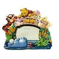 Disney Store WINNIE THE POOH 3x5 Picture Frame Piglet Tigger Eeyore Rabbit