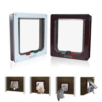 ABS Plastic Pet Cat Dog Lockable Security Flap Door Gate Frame UK