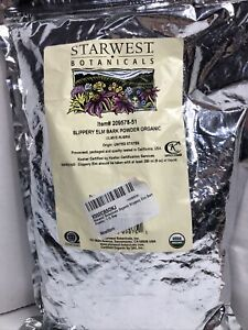 Starwest Botanicals Slippery Elm Bark Powder Organic 1 lb Pkg