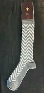 VK Nagrani Men's Dress Socks Over The Calf L379 GRAY