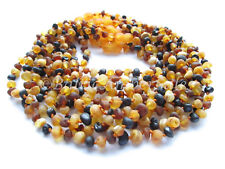 Amber Wholesale, Lot of 10 Multicolor Raw Baltic Amber Baby Necklaces