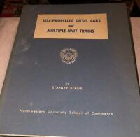Self Propelled Diesel Cars Multiple Unit Trains Stanley Berge Book Railroad