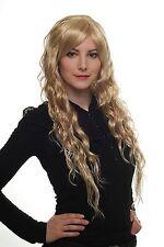 Damen Perücke Wig wet-look blond-mix gesträhnt Seitenscheitel 75 cm 9333-24BT613