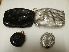 PAIR OF TWILIGHT COLLECTION CLUTCH PURSE WITH CHANGE PURSE 1 BLACK &1 SILVER