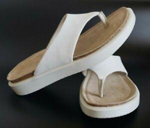 Ecco Women's Shoe White Corksphere Sandals 271803 Size US 4.5