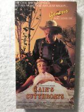 Cain's Cutthroats (Prev . Viewed VHS) Genesis release John Carradine RARE!