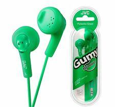 JVC HA-F160 GREEN Gumy In-Ear Audio Headphones for iPod iPhone MP3 Smartphones