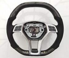 Mercedes AMG A C CLA E Class Carbon Fibre Alcantara Steering Wheel White Stitch