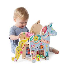 Motoriktisch aus Holz Pony Pferd Kleinkindspielzeug Holzspielzeug Baby