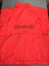 VTG Reebok Windbreaker Jacket 80s 90s Spell Out Big Logo RED Size Large L Rare