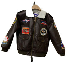 Up And Away Junior Flight Jacket Sz 8 USAF Type A-2 NW0T Bomber Style