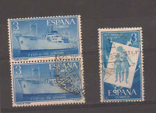 Spain stamps. 1956 Floating Exhibition & Hungarian Children used.(S256)