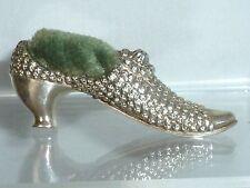 Antique Victorian Silver Pin Cushion Ladies Shoe Adie & Lovekin 1900