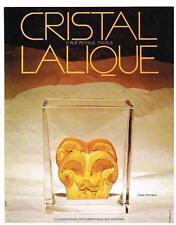 PUBLICITE  1973   CRISTAL  LALIQUE   vase  ASMARA